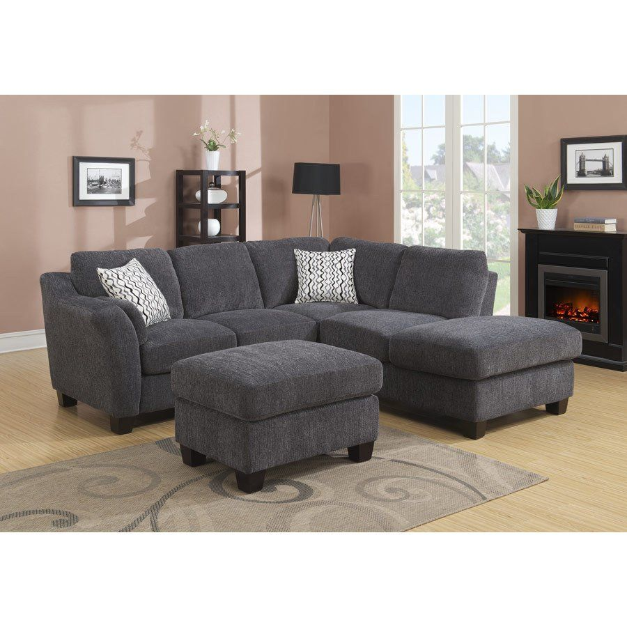 Shop Emerald Clayton Charcoal 2pc Sectional Sofa