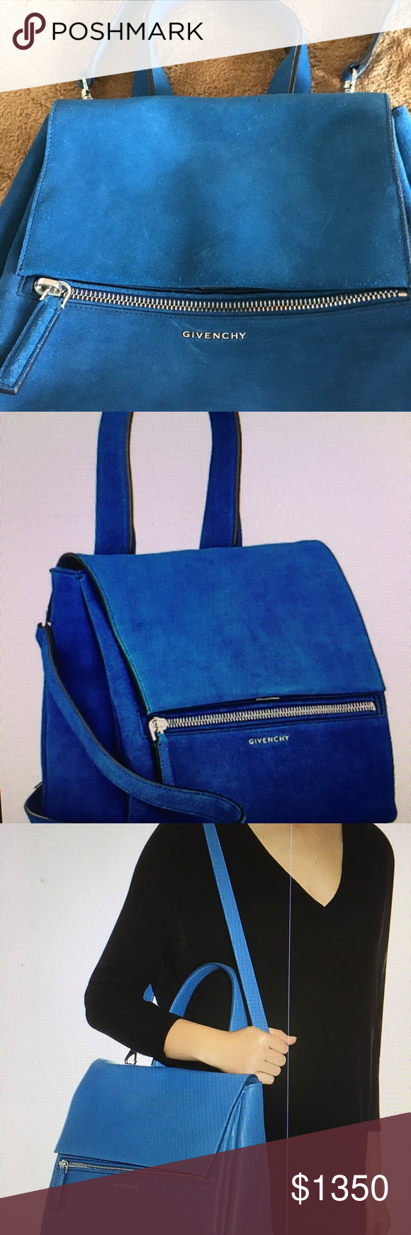 b17a915f6d64 Givenchy Pandora Pure suede leather hand bag Givenchy Pandora Pure suede  leather hand bag  top