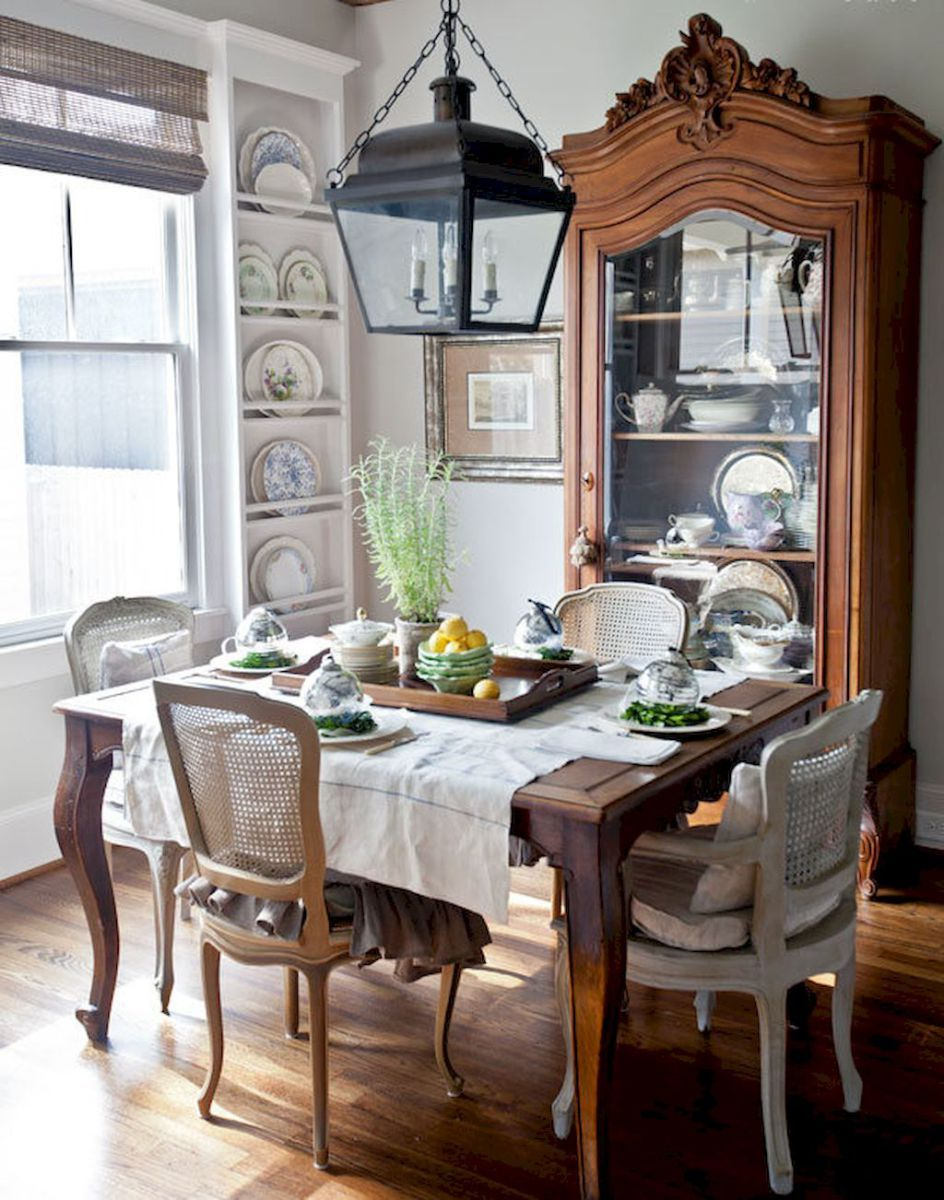 beautiful french country dining room design and decor ideas 46