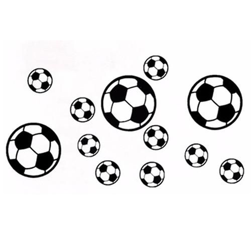 Photo of 12Pcs/Set Football Soccer PVC Wall Art Sticker Decal Boys Bedroom Home Decor – as the picture as
