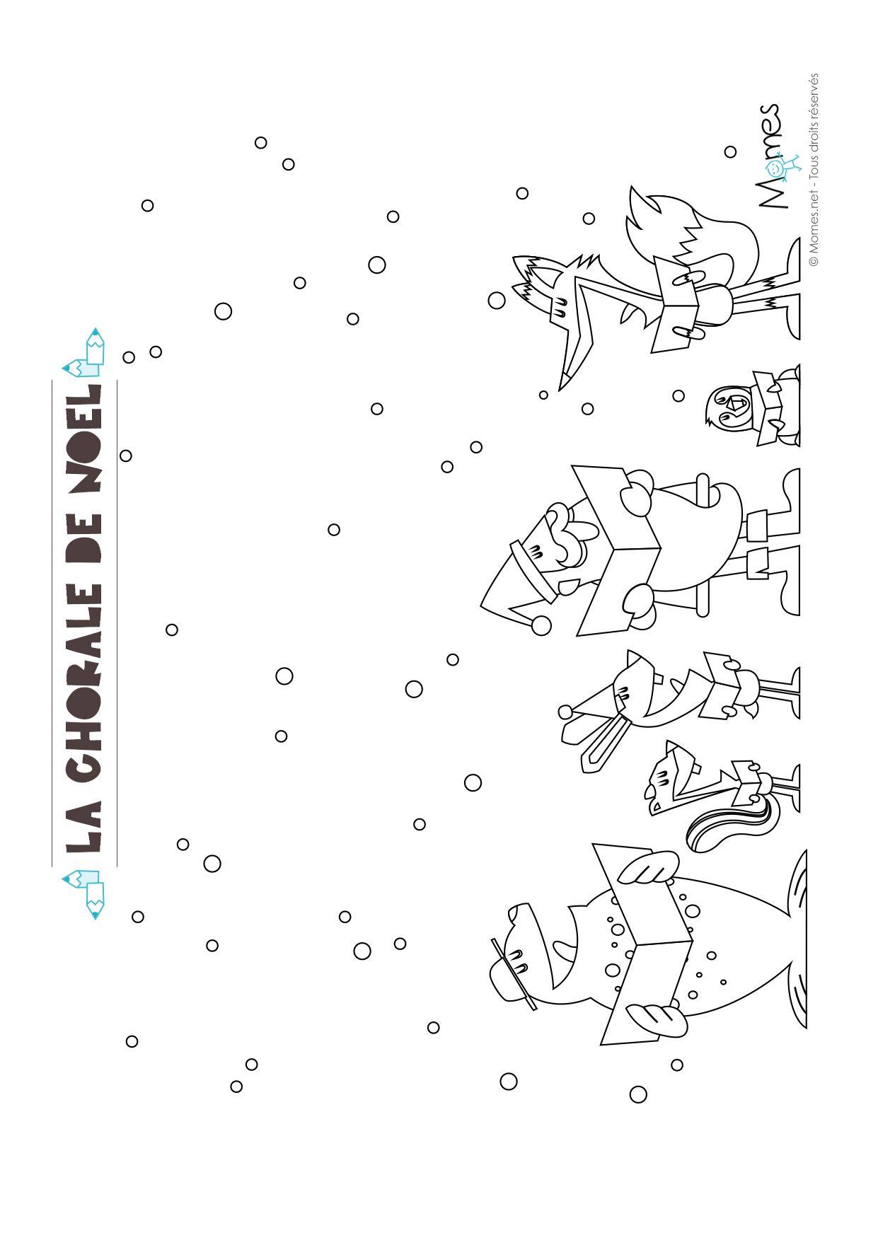 Coloriage De Noel La Chorale Du Pere Noel