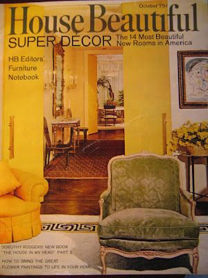 Sister Parish decorated room -cover of House Beautiful 1967