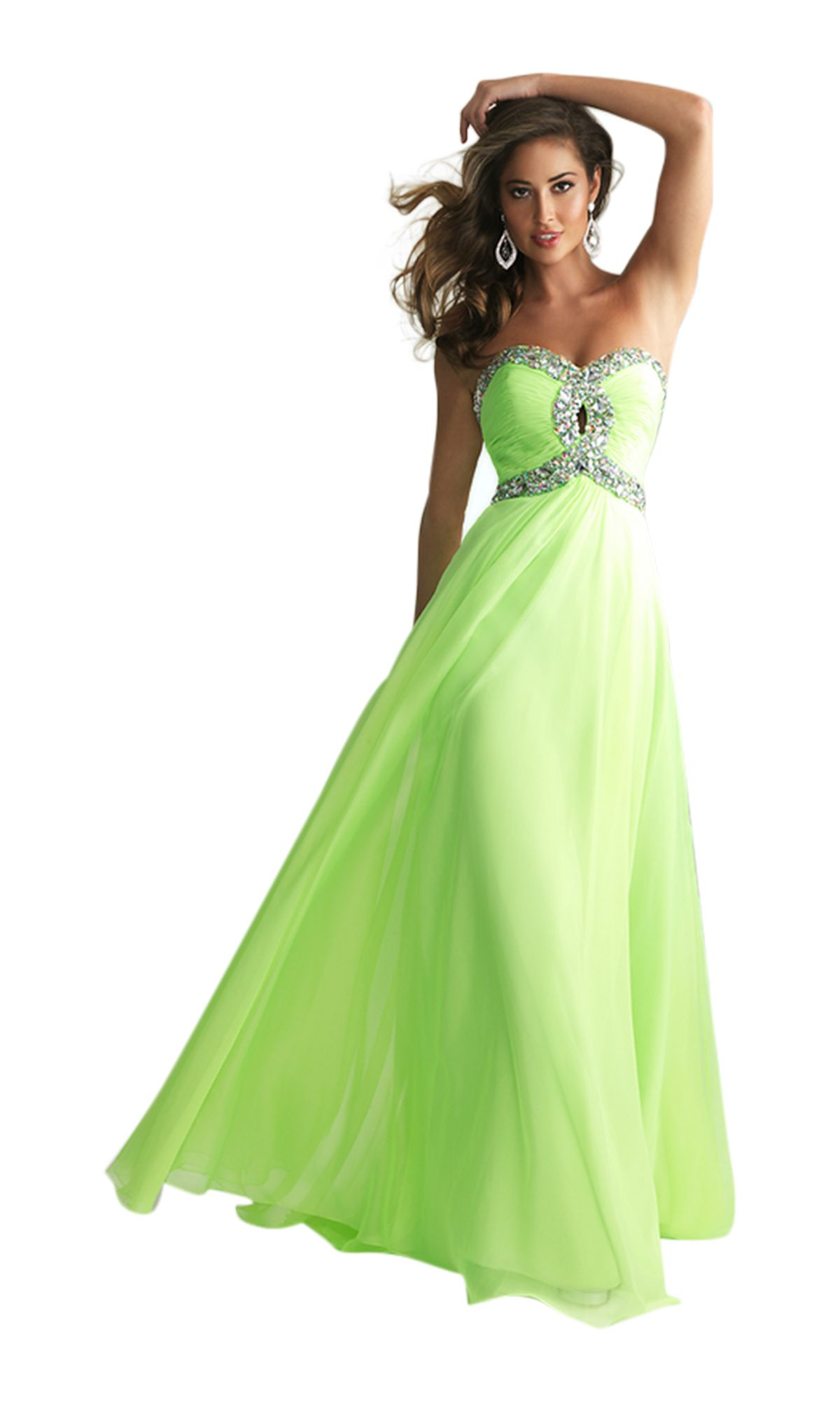 Long flowy neon for prom get this style omgirl