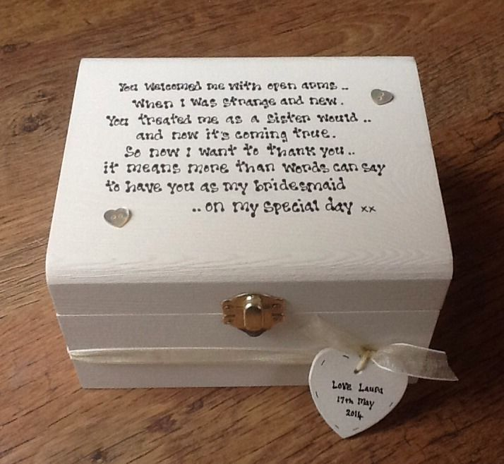 Sister Wedding Gifts: Shabby Personalised Chic Bridesmaid Sister To Be Sister In