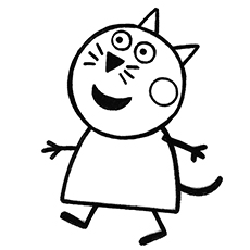candy the cat coloring pages - photo#5