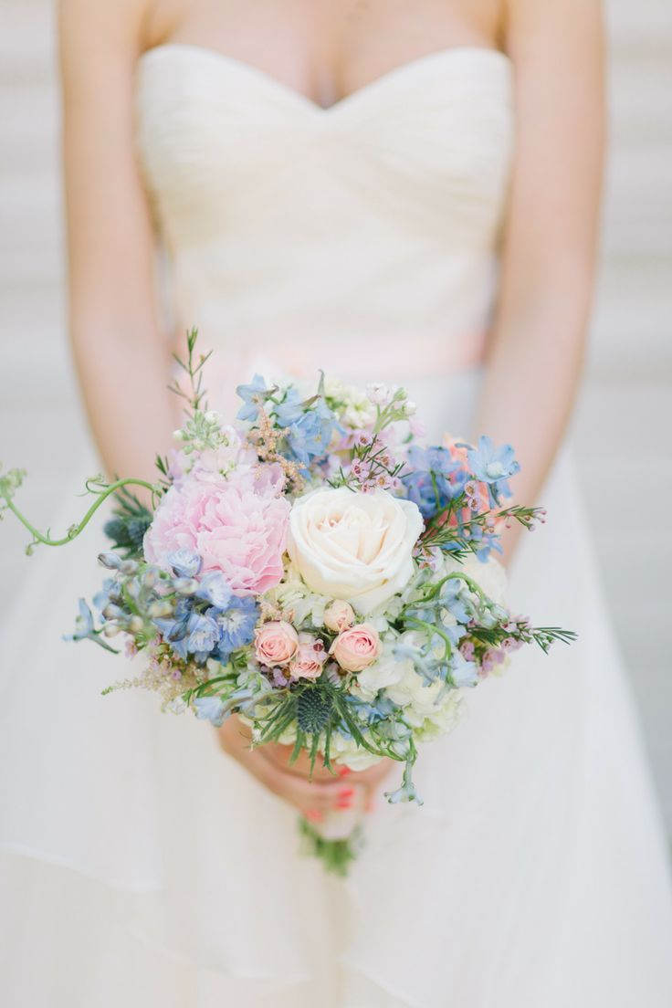Spring Wedding Bouquetspastel Bridal Bouquet Wedding Wedding