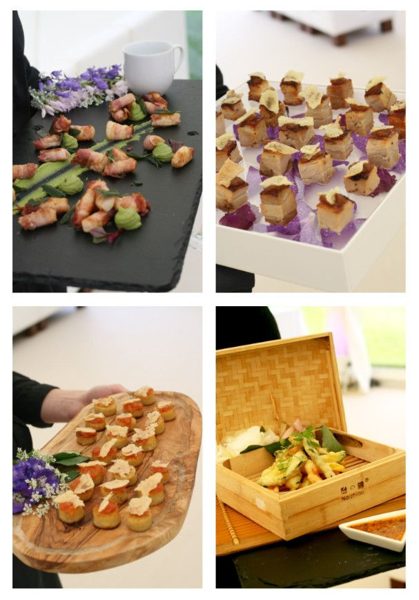 Creative canape presentation catering ideas pinterest for Canape display stands