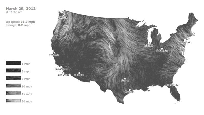 A Mesmerizing Realtime Map Of US Wind Patterns Ocean Current - Evolving map of us