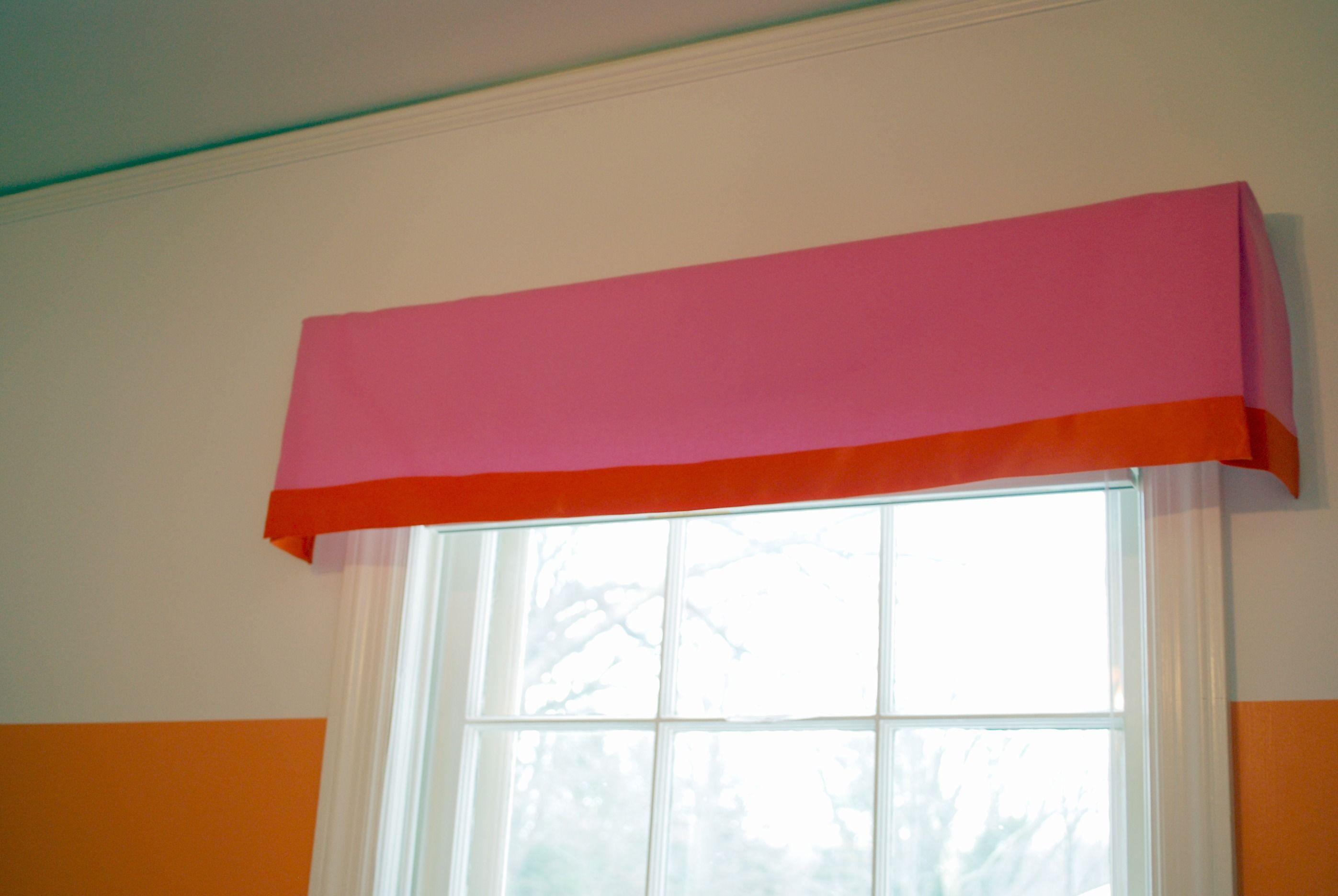 Diy No Sew Window Treatment Box Pleat Valance Fabric