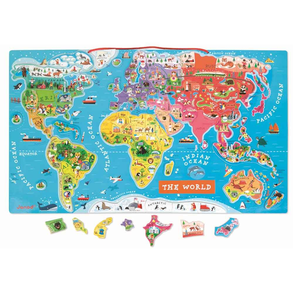 Buy your janod magnetic world map puzzle at jarrolds discover janod buy your janod magnetic world map puzzle at jarrolds discover janod jigsaw puzzles online and gumiabroncs Choice Image