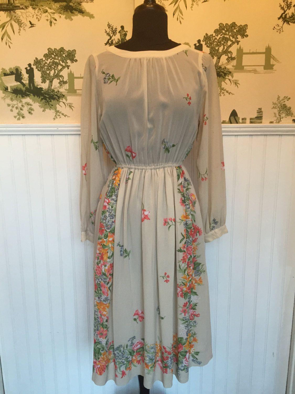 Japanese Floral Vintage Dress Vintage Floral Dress Dresses Vintage Dresses