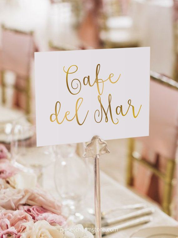 favorite cafe table names by papercharmstore   K&N Wedding ...
