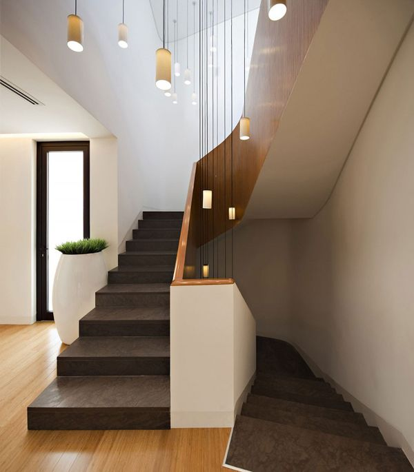 Voluminous two story modern pad in Kuwait MOP House Home design