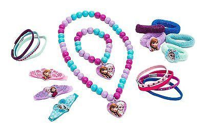 Frozen Jewelry+Hair Accessory Set-hair clips,terries,elastics,bracelets,necklace