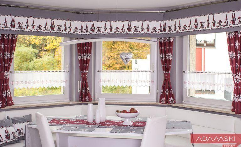 Firany Do Kuchni Boże Narodzenie 2017 święta Curtains