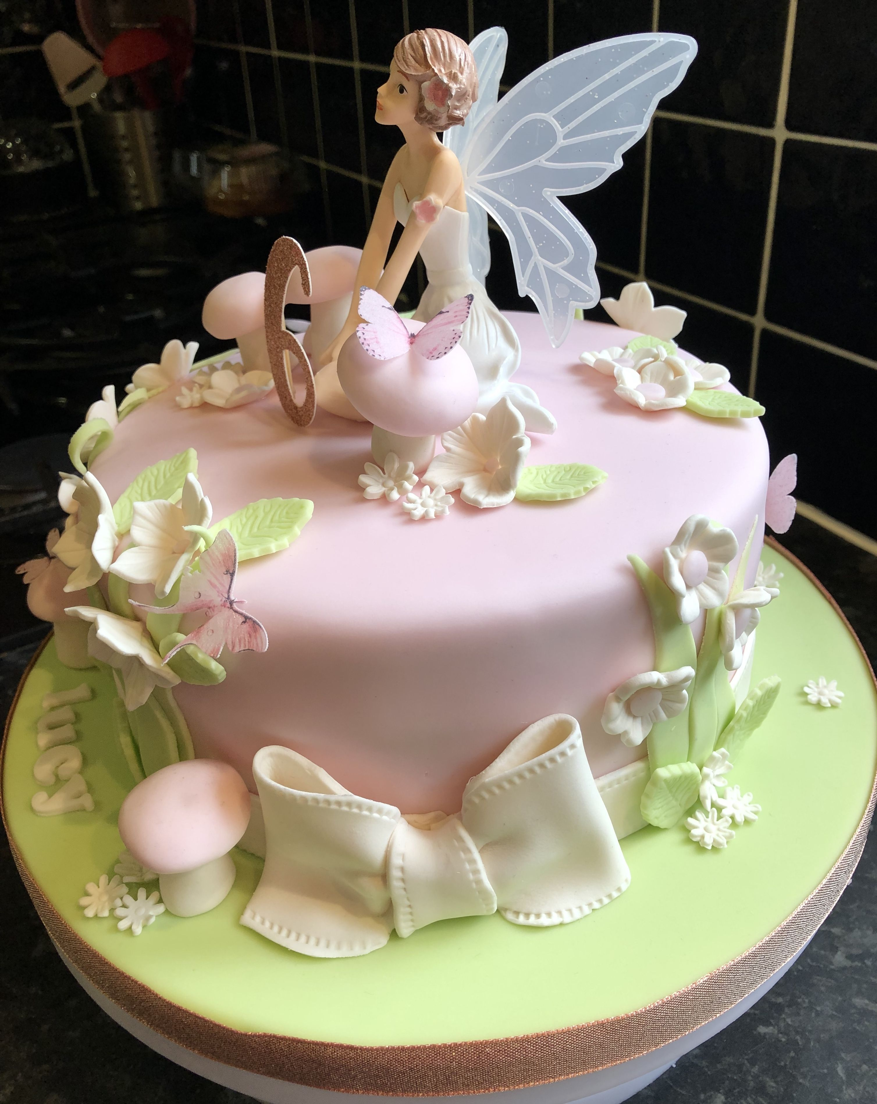 Fantastic Fairy Birthday Cake Fairy Birthday Cake Fairy Cakes Fairy Funny Birthday Cards Online Inifodamsfinfo
