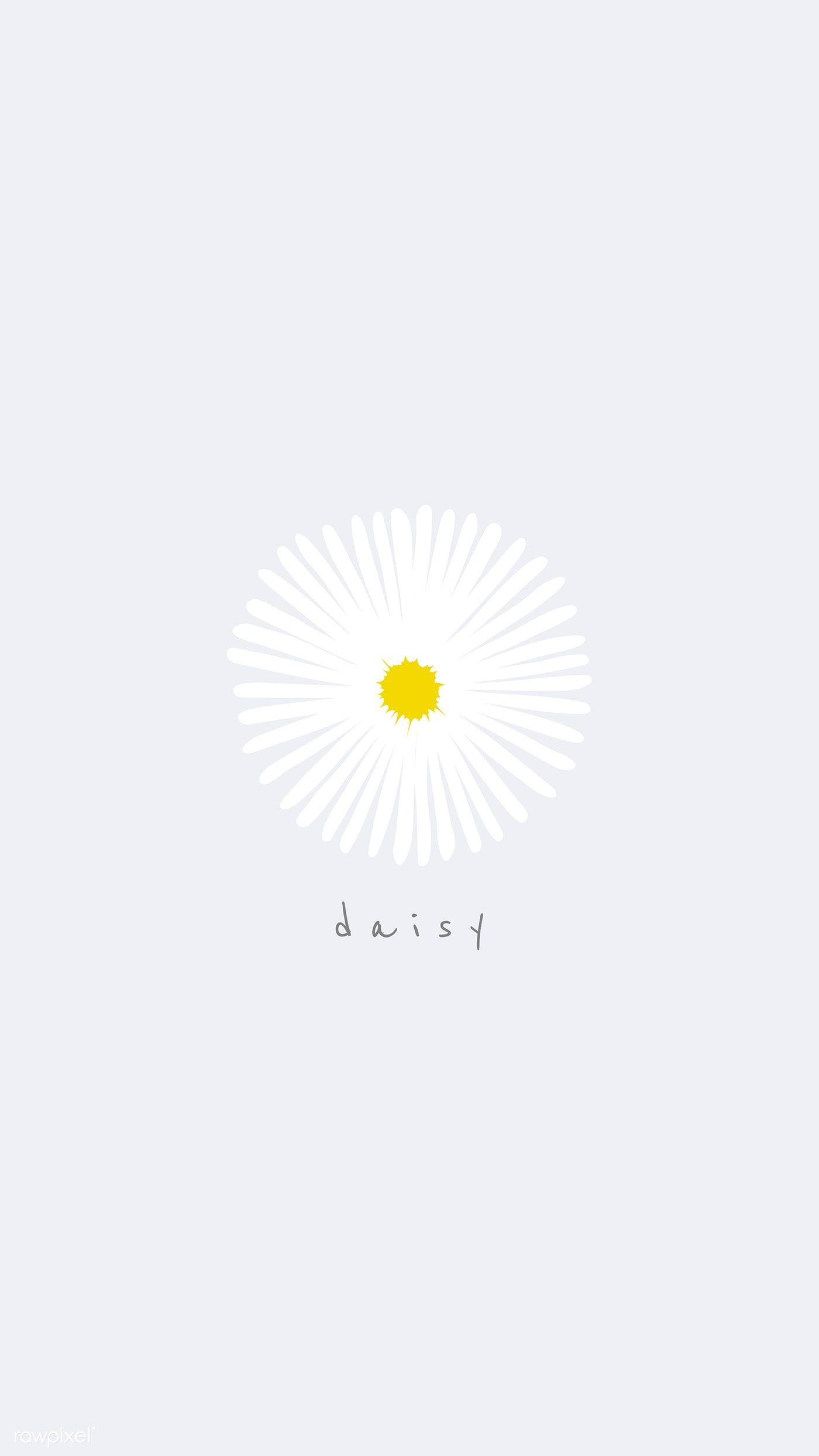 Download Premium Vector Of White Daisy Flower Mobile Wallpaper Vector Cute Flower Wallpapers Daisy Wallpaper Flower Mobile
