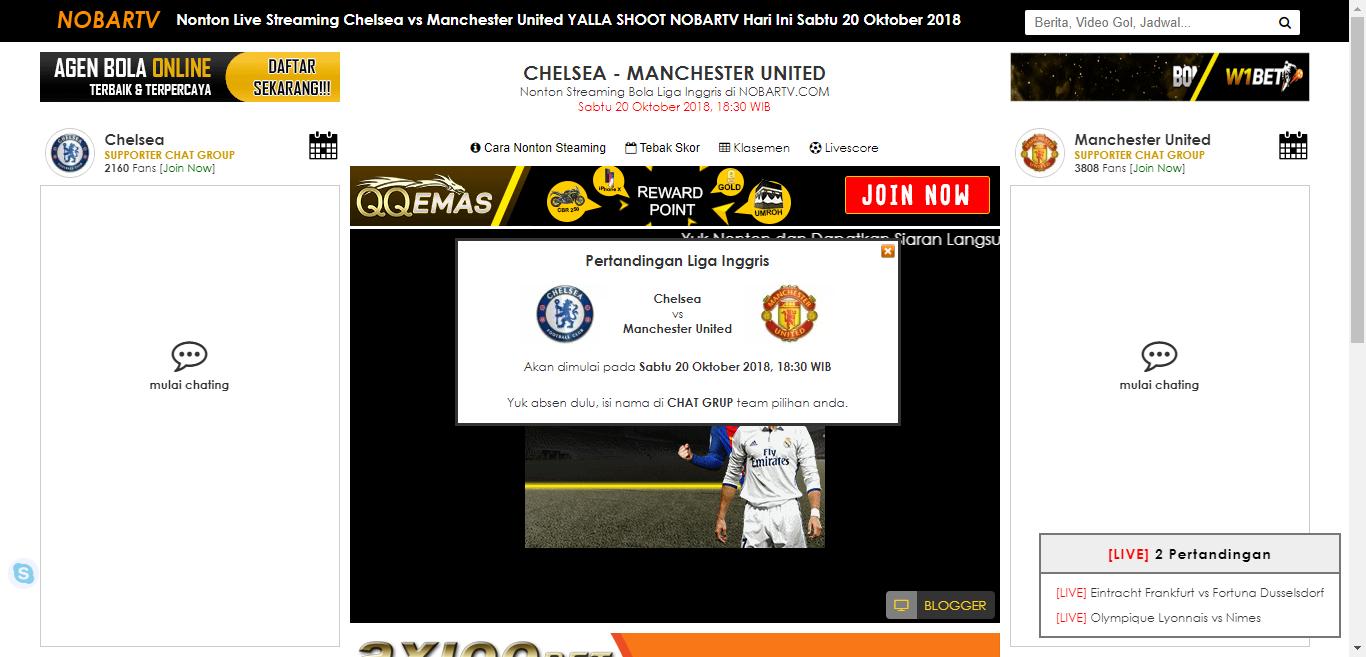 Nonton Live Streaming Chelsea Vs Manchester United Yalla Shoot