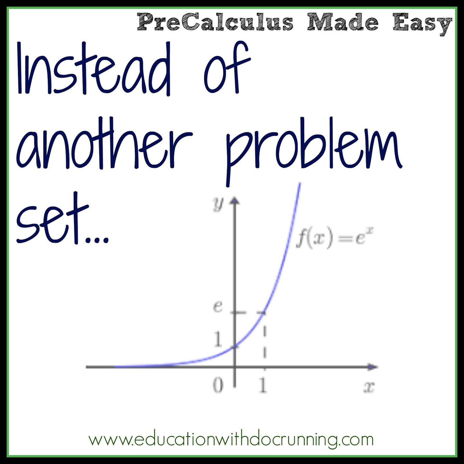 In This Blog Post Learn A Quick Mini Project For Graphing Exponential Functions In Pre Calculus It Is Free Math Lessons Problem Based Learning Math Lessons