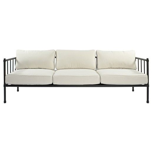Superb Fernhill Metal Patio Sofa   Linen   Threshold™