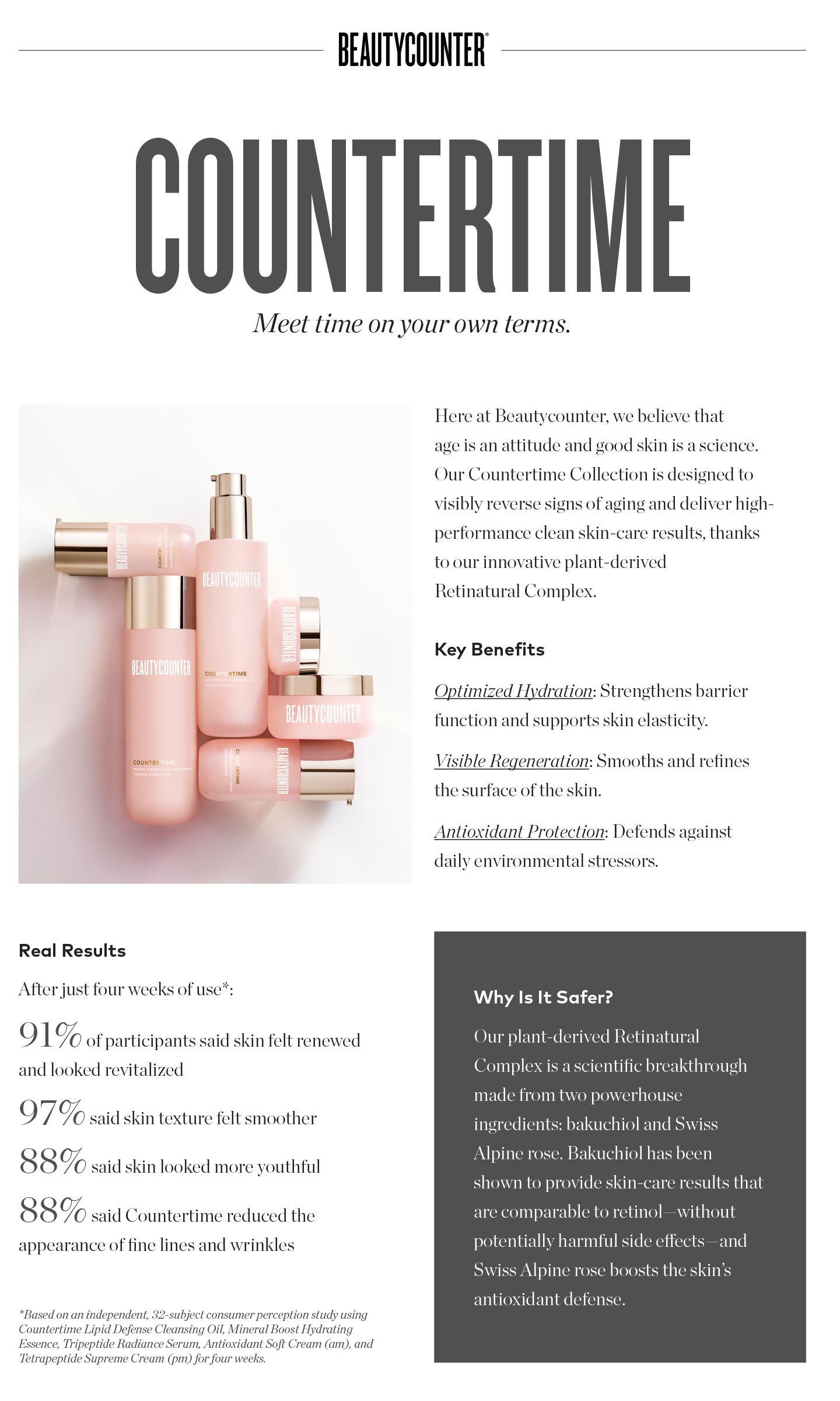 Countertime by Beautycounter Safe skincare, Clean