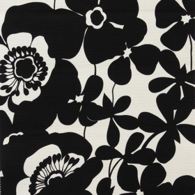 Black and white graphic floral. Alexander Henry - Collections
