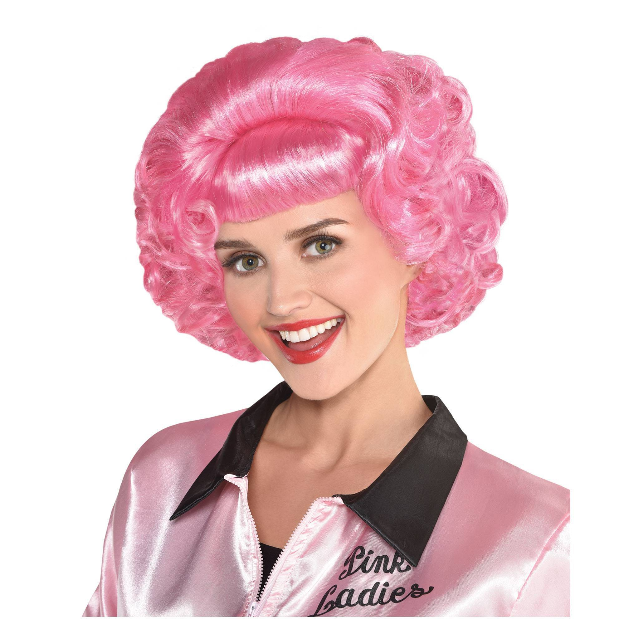 Grease Frenchy Pink Halloween Costume Wig Pink Halloween Costumes Halloween Costume Wigs Pink Halloween