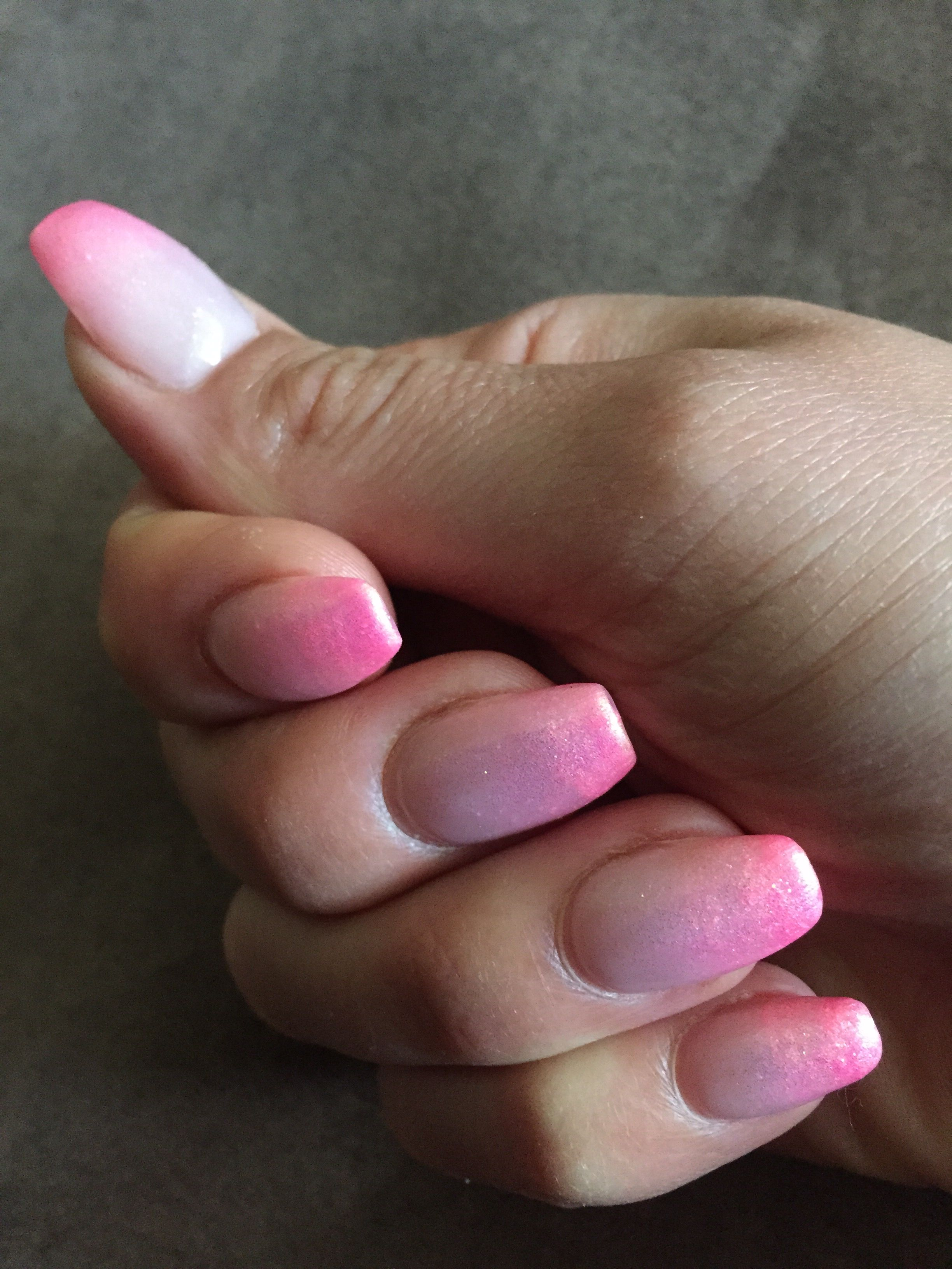 Pink Ombre Gel Nails