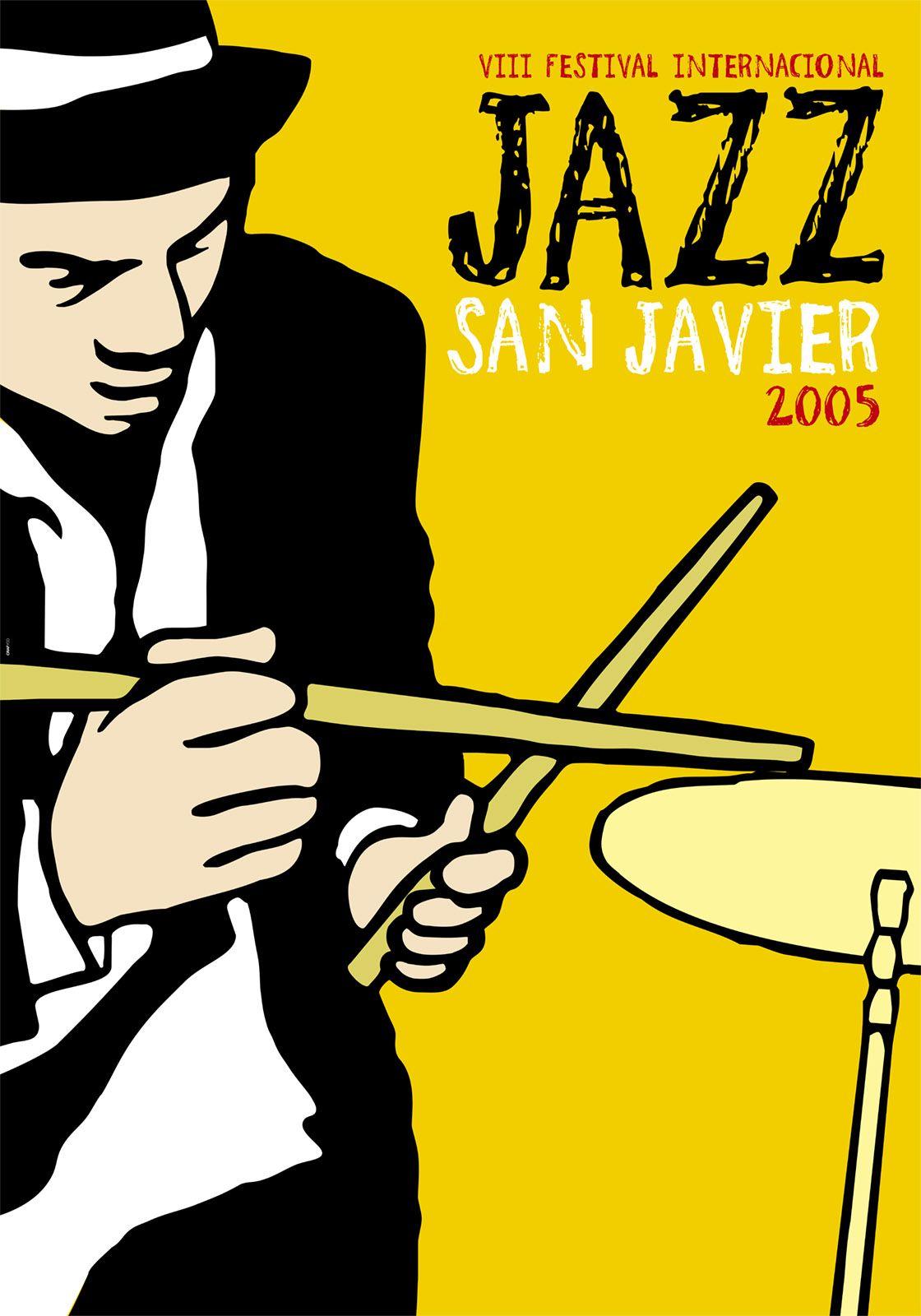 Cartel Jazz San Javier 2005 By Grafyco Jazz Festival De Jazz Ilustración Musical