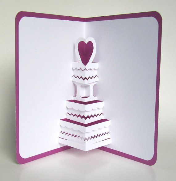 Wedding Cake 3d Pop Up Greeting Card Anniversary Cake Etsy Valentine Greeting Cards Handmade Birthday Cards Homemade Birthday Cards