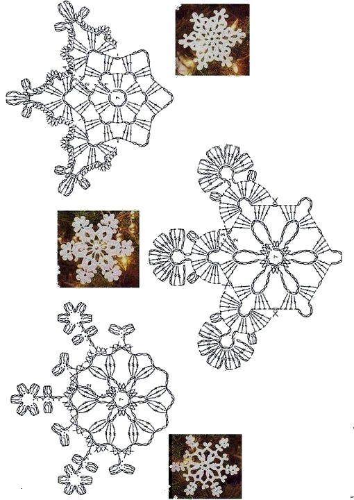 3 fiocchi.jpg   Patrones   Pinterest   Crochet, Christmas decor and ...