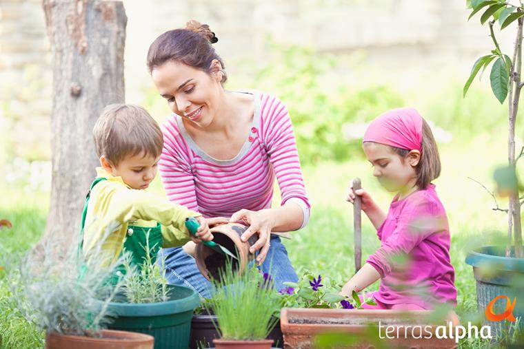 No Projeto Plantando Raízes, as famílias recebem uma muda para ser plantada em uma área reservada do seu Alphaville. Com essa experiência, o morador poderá acompanhar o crescimento da árvore junto às obras do empreendimento.