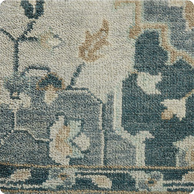 Nola Blue Persian Style Rug Swatch 12x12 Reviews Crate And Barrel Persian Style Rug Rugs Sisal Linen Rug