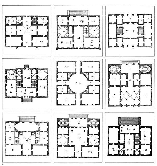 Palladial Villa Plans Centralised European Architecture Andrea Palladio Palladio