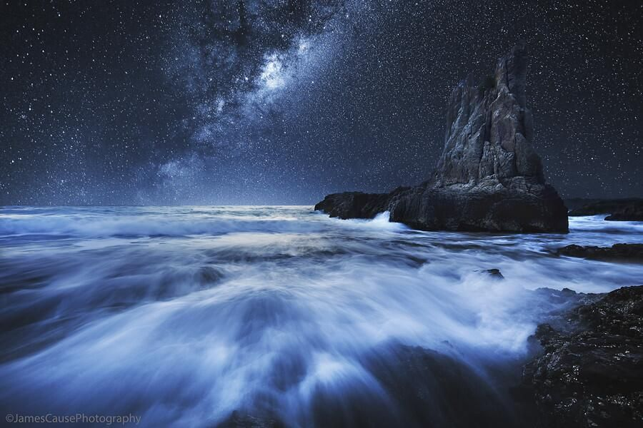 Mir Foto On Ocean Night Skies Cool Pictures