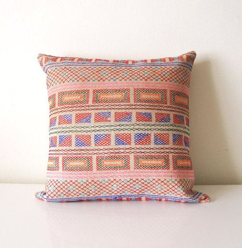 Design Sponge Throw Pillows : These pillows from Little Attic Shop are made from fabric from northern Thailand Products on ...