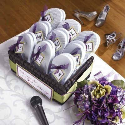 Dancin' shoes for a wedding! Cute idea!