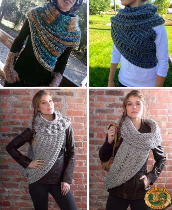 Katniss Crochet Cowl Free Pattern Plus Video Tutorial | Tejidos ...