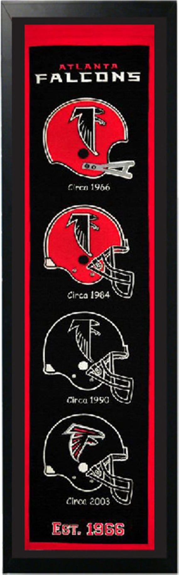 Atlanta Falcons Logo History Felt Banner 14 X 37 Etsy In 2020 Atlanta Falcons Logo Atlanta Falcons Atlanta Falcons Fans