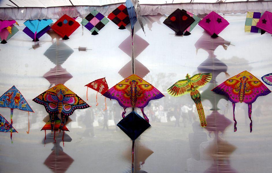 Il festival internazionale degli aquiloni a New Delhi, in India. (A. Mukherjee, Epa)