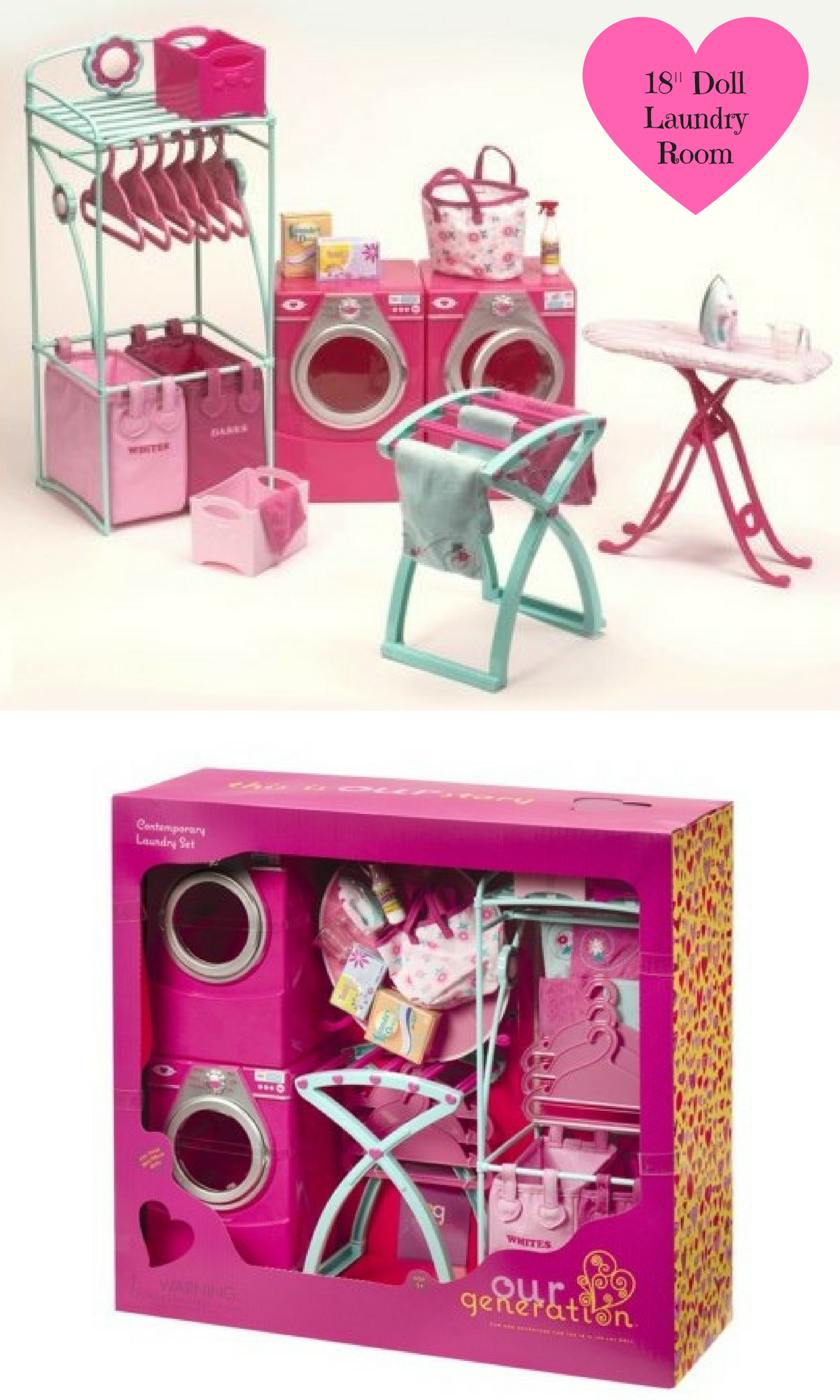 219ed0aab0245 Our Generation Doll Accessories from Target. Laundry room set for 18 inch  doll.  americangirldoll  dolltoys  dolllaundryroomset  affiliate  target