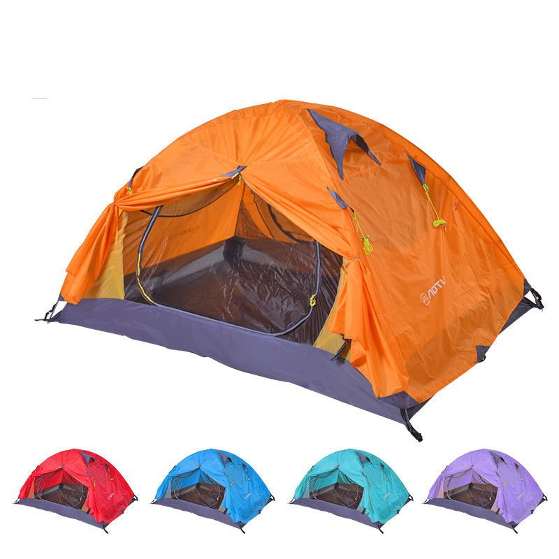 Outdoor C&ing 2 Person Tent Sunshade Double Layers PU 4000 Waterproof Canopy Sun Shelter  sc 1 st  Pinterest & Outdoor Camping 2 Person Tent Sunshade Double Layers PU 4000 ...
