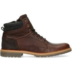 Photo of Dark brown leather lace-up boots (40.41.42.43.44.45.46) Manfield