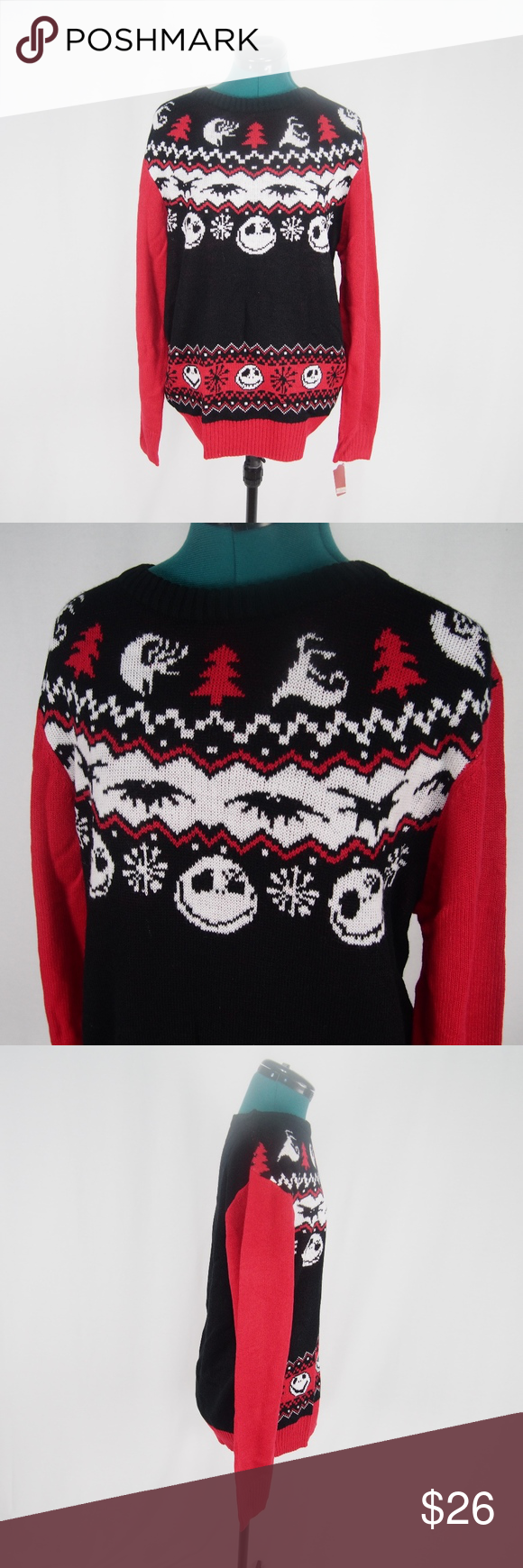 Nightmare Before Christmas Holiday Sweater Knit NWT | Nightmare ...