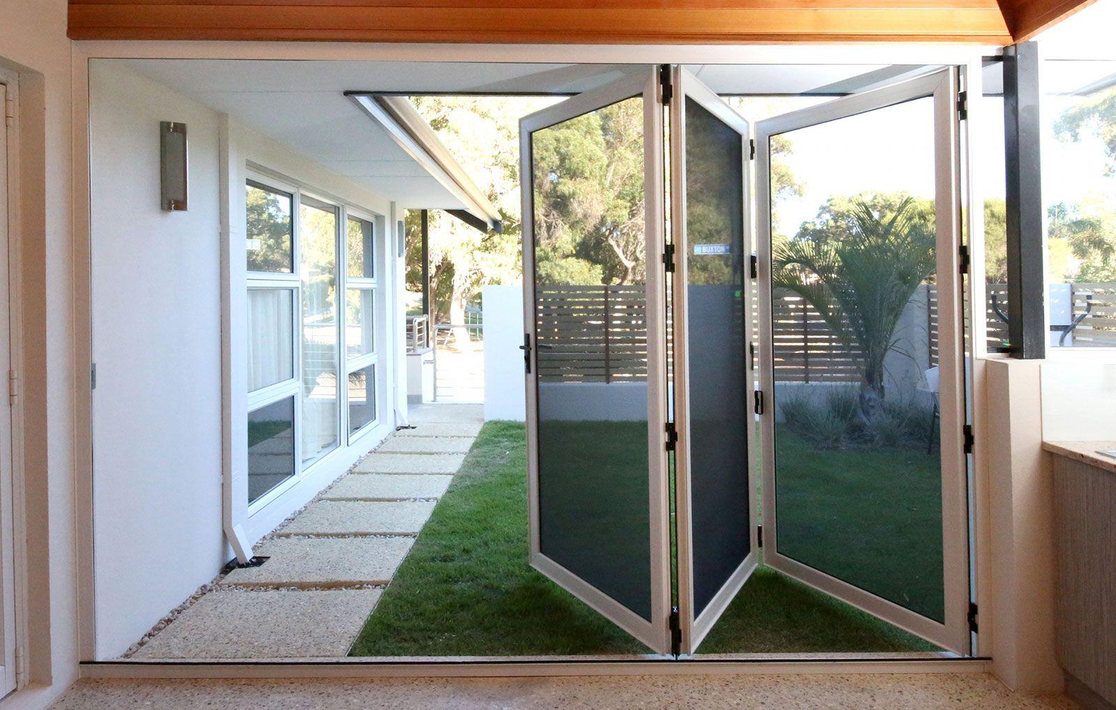 Crimsafe Bifold Doors Clearview Security Double Patio Doors Folding Patio Doors Patio Screen Door