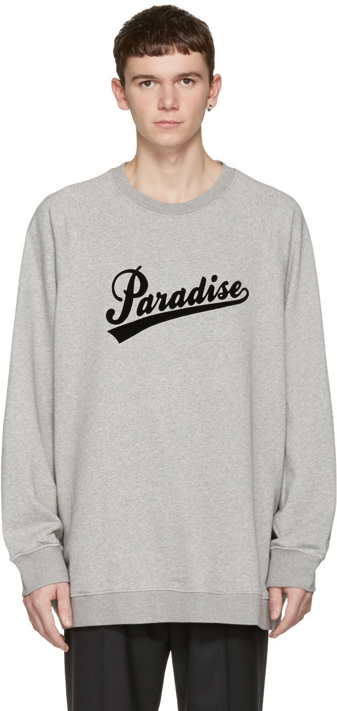 Marc Jacobs Grey Paradise Pullover Marcjacobs Cloth Pullover Long Sleeve Tshirt Men Printed Sweatshirts Marc Jacobs [ 1419 x 672 Pixel ]