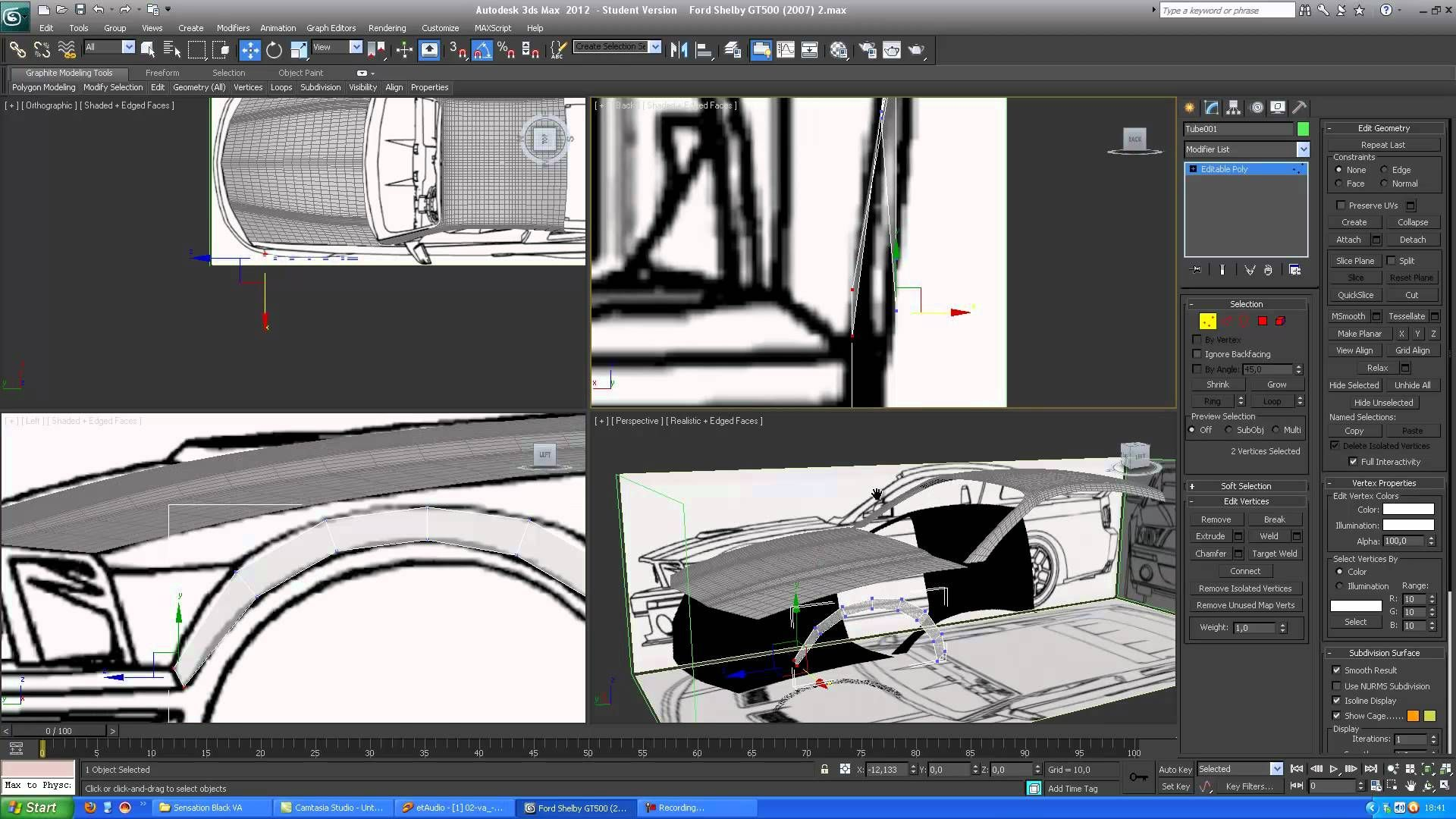 3D MAX - Modelowanie Ford Shelby GT500 (2007) - Part 2