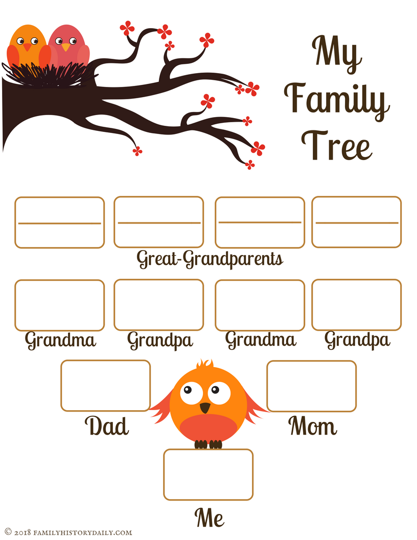 It's just a photo of Nifty Family Tree Free Printable