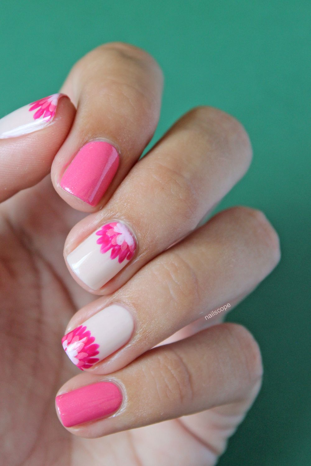 Nailart vernis manucure uñas pinterest dahlia pink
