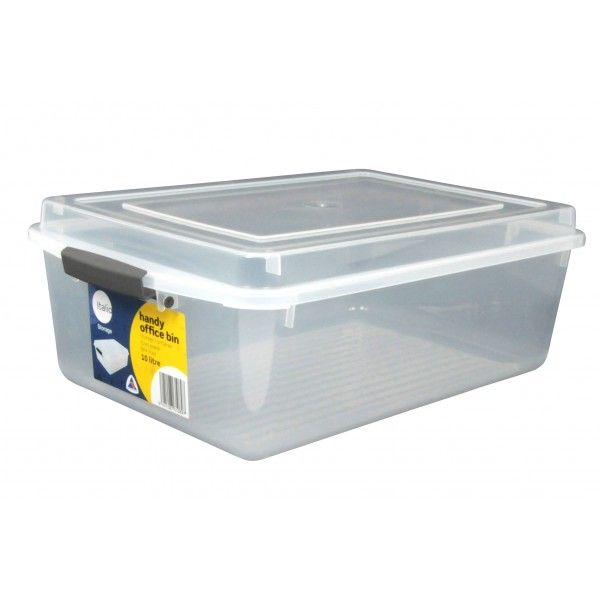Document Box A4 10l Clear Storage Boxes With Lids Document Box Document Sorting